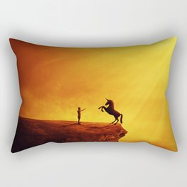 How to tame a unicorn? Rectangular Pillow