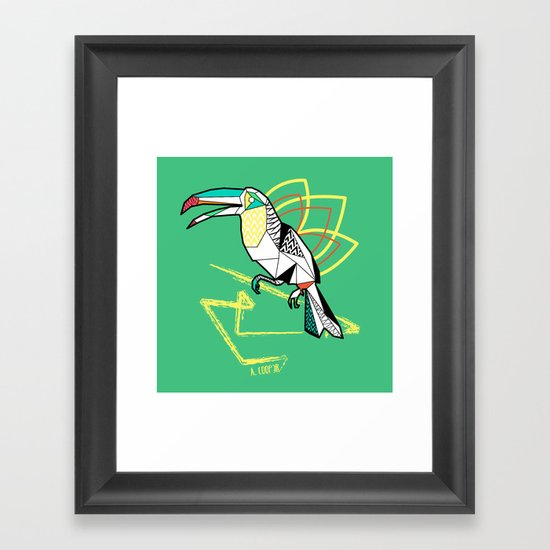 Geometric toucan Framed Art Print
