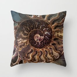 An Ancient Shell Throw Pillow