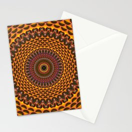 Hippie Rainbow Mandala Fractal Pattern Stationery Cards