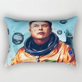 Astronaut Elon Musk Rectangular Pillow