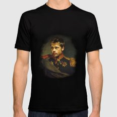 Brad Pitt - replaceface Black MEDIUM Mens Fitted Tee