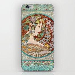 Alphonse Mucha  -  Ivy iPhone Skin