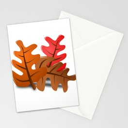 Fall Leaf Peeper New England Leaves Changing Season Stationery Cards