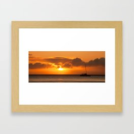 Hawaiian sunset  Framed Art Print