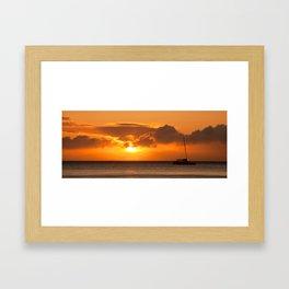 Hawaiian sunset  Framed Art Print