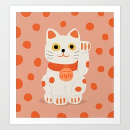 Abstraction_Lucky_Charm_Cat Art Print