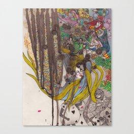 Alice in Wonderland - Strange Dreams / Original A4 Illustration / Ink & Watercolor Canvas Print