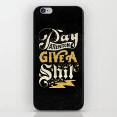 Pay Attention  iPhone & iPod Skin