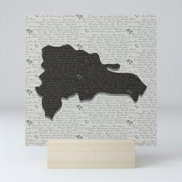 Dominican Republic Map with Provinces Mini Art Print