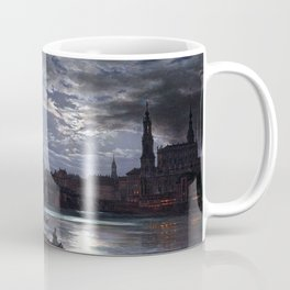 Johan Christian Dahl View of Dresden by Moonlight Coffee Mug