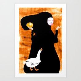 golden goose Art Print