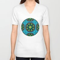 flower pattern V-neck T-shirts featuring Flower Pattern by Lyle Hatch