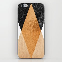 Copper Marble Triangles iPhone Skin