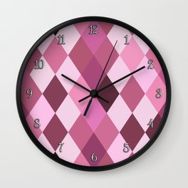 Pink Roses in Anzures 4 Harlequin 1 Wall Clock