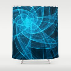 Tulles Star Computer Art in Blue Shower Curtain