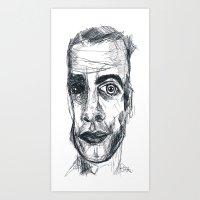 ezra koenig Art Prints featuring EZRA by EDEN