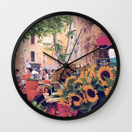 Market Days In France Wall Clock