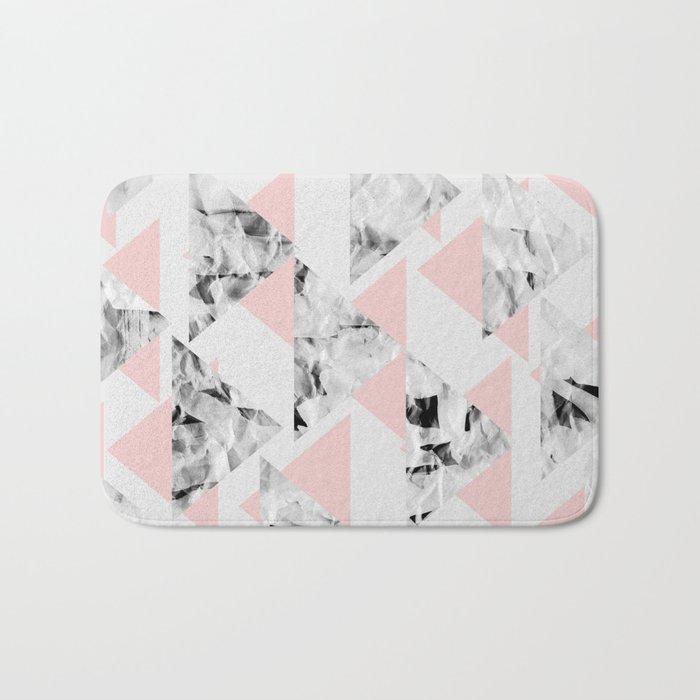 Pink Triangles Bath Mat
