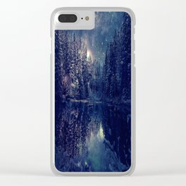 Winter Forest Deep Pastel Clear iPhone Case