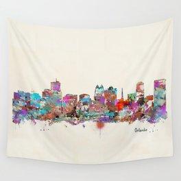 Orlando Florida skyline Wall Tapestry