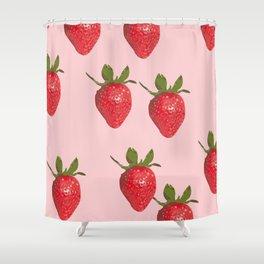 Strawberry Cream Shower Curtain