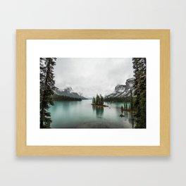 Landscape Photography | Spirit Island | Maligne Lake | Jasper Alberta | Emerald Water | Wall Art Framed Art Print