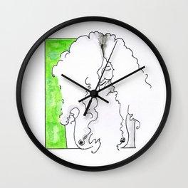 Girl in green Wall Clock