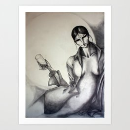 I tasted Krishna... Art Print
