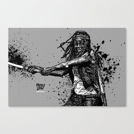 Michonne as played by Danai Gurira on AMC's The Walking Dead Canvas Print