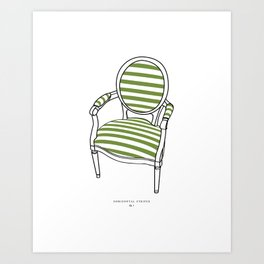 Striped Chair Print Art Print