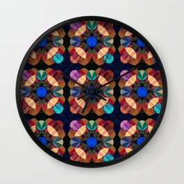 Achlis - Colorful Abstract Blossom Pattern Wall Clock
