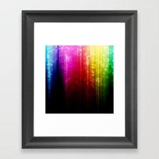Rainbow Rain. Framed Art Print