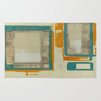 mid century Area & Throw Rugs featuring Mid Century Modern Abstract by Corbin Henry