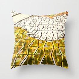 Niemeyer ~ Gold Throw Pillow