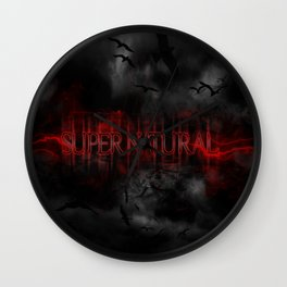 Supernatural darkness Wall Clock