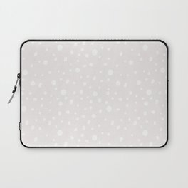 Modern hand painted mauve pink white polka dots Laptop Sleeve