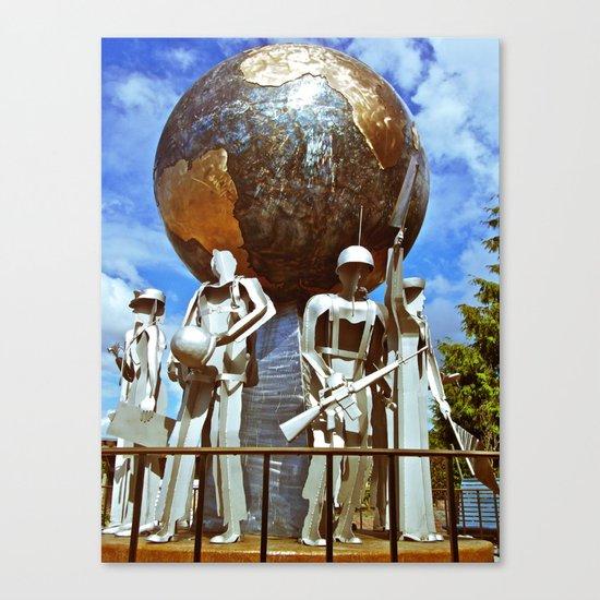 lakewood Veterans Memorial Canvas Print