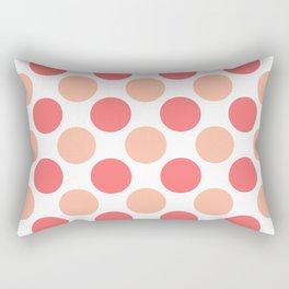 Coral polka dots Rectangular Pillow