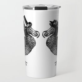 Mr and Mrs Dodo | Dodo Couple | Dodo Bird | Extinct Birds | Black and White | Travel Mug