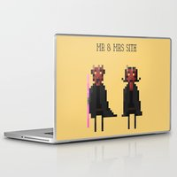 sith Laptop & iPad Skins featuring Mr & Mrs Sith by Simon Alenius