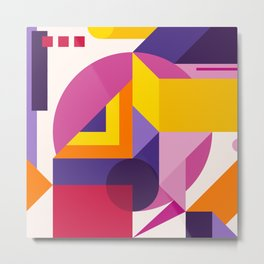 Abstract modern geometric background. Composition 14 Metal Print