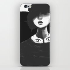 Contemporary Black and White Collar  iPhone & iPod Skin