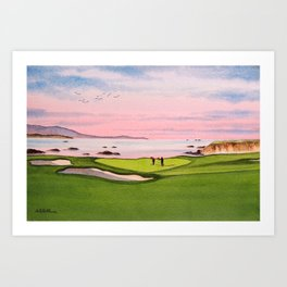 Pebble Beach Golf Course 8th Hole Art Print