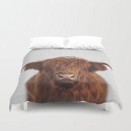 Highland Cow - Colorful Duvet Cover