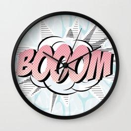 Water comics pastel boom Wall Clock