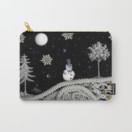 Pearly White Snow Night, Scanography Carry-All Pouch