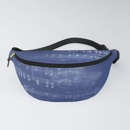 Sheet Music - Mixed Media Partiture #5 Fanny Pack