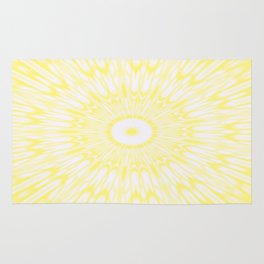 Lemon Yellow Kaleidoscope Rug