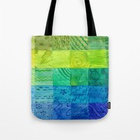 bali Tote Bags featuring Bali Quilt by Catherine Holcombe
